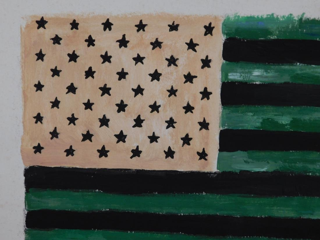 Manner of Jasper Johns: American Flag - 3