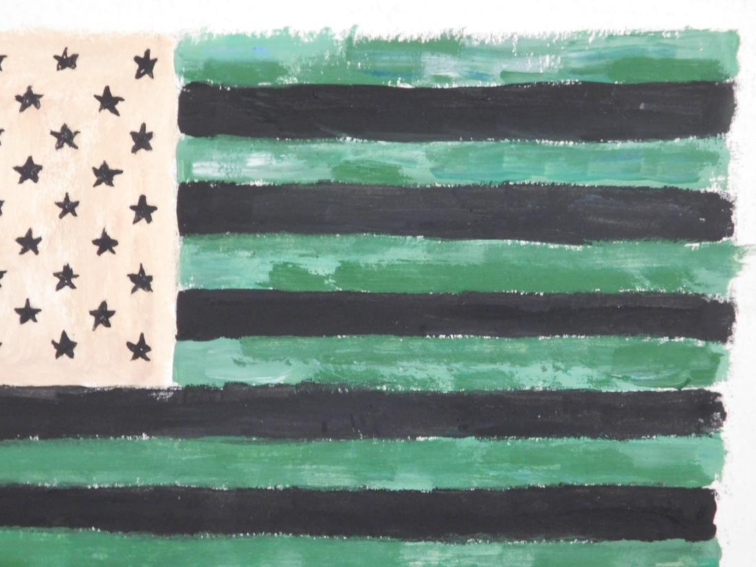 Manner of Jasper Johns: American Flag - 4