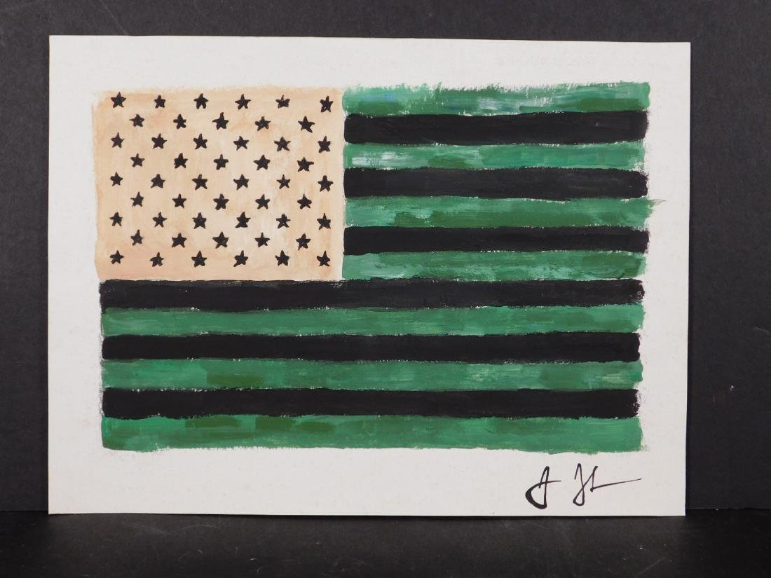 Manner of Jasper Johns: American Flag - 5