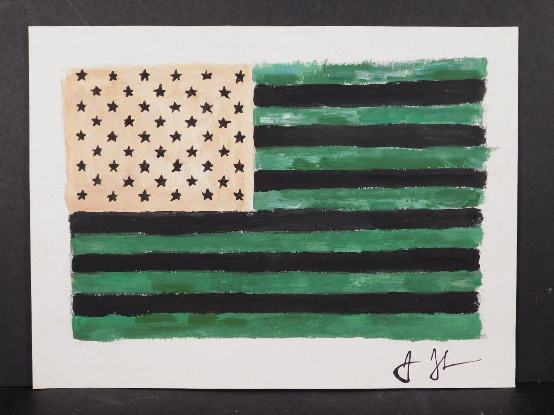 Manner of Jasper Johns: American Flag - 6
