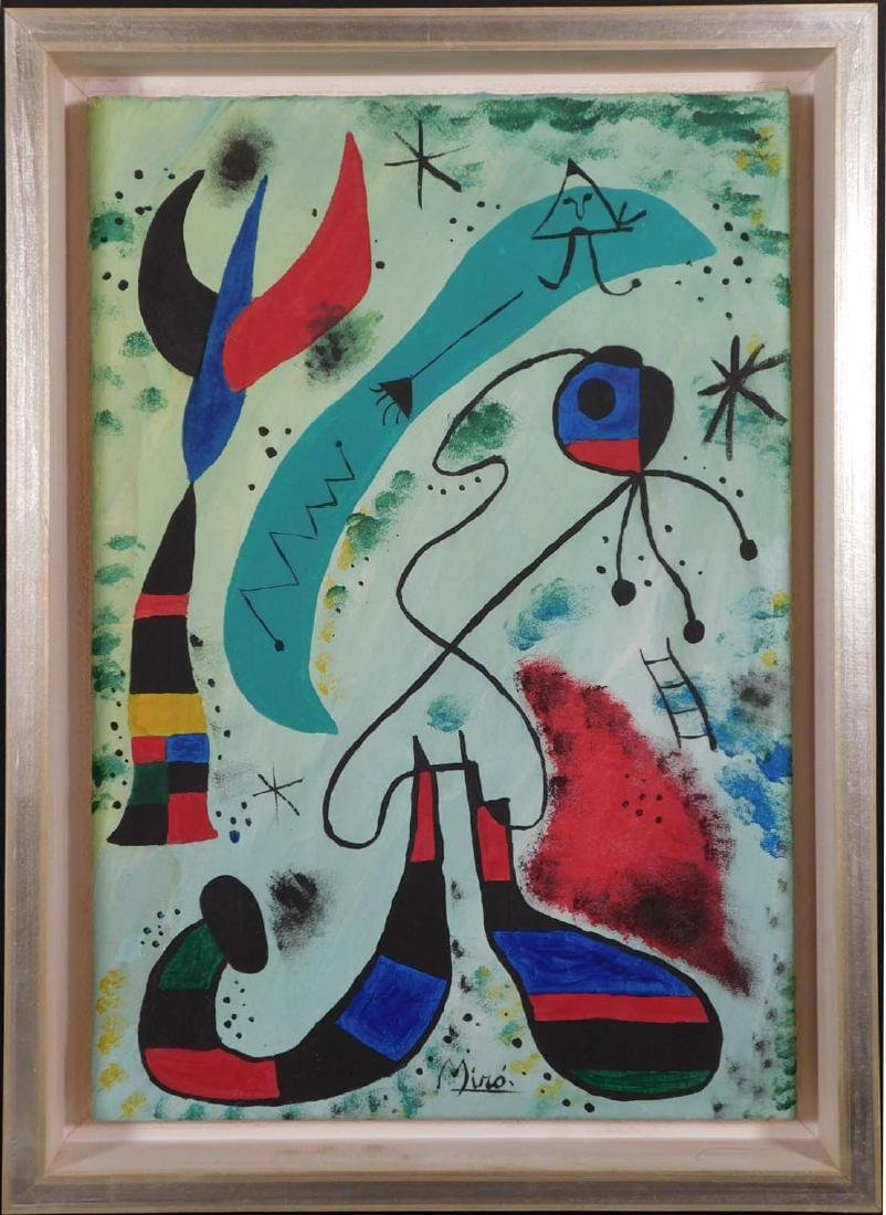 Manner of Joan Miro: Abstract Composition