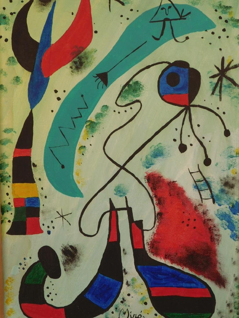Manner of Joan Miro: Abstract Composition - 2