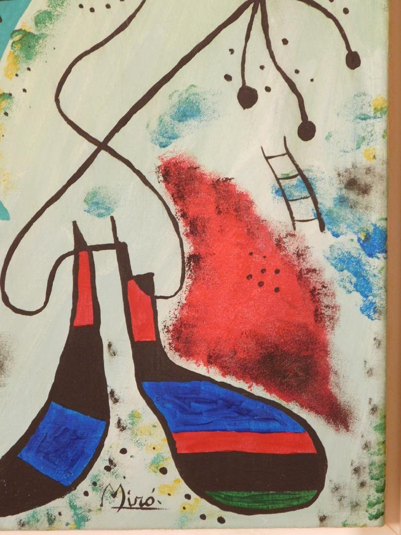 Manner of Joan Miro: Abstract Composition - 6