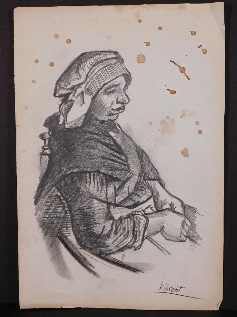 Vincent Van Gogh: Portrait of a Peasant Woman - 2