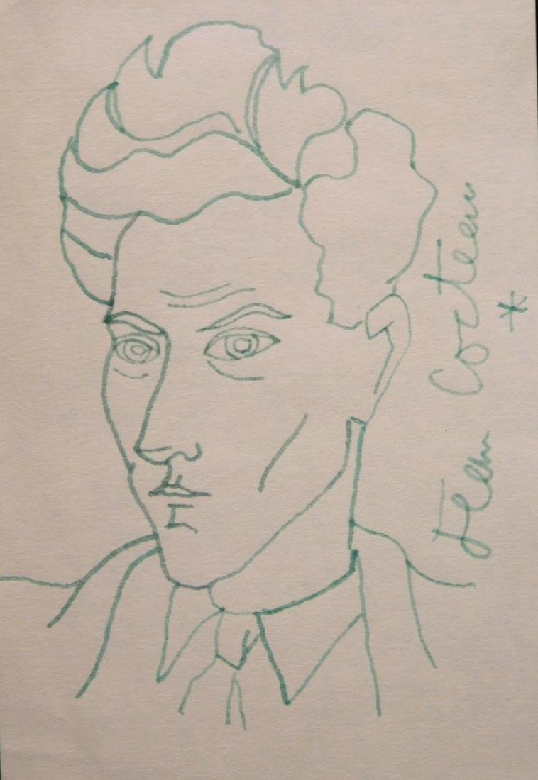 Jean Cocteau: Self-Portrait Drawing