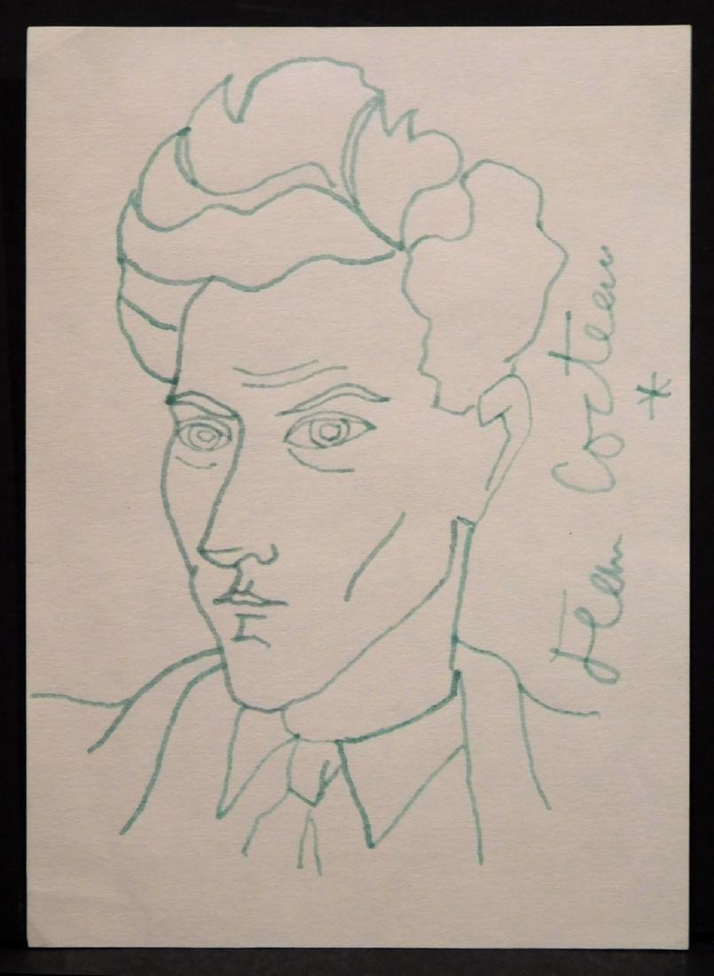 Jean Cocteau: Self-Portrait Drawing - 2