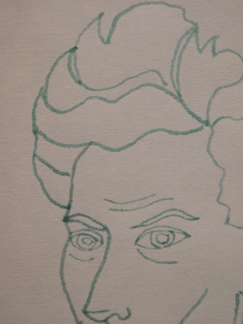 Jean Cocteau: Self-Portrait Drawing - 3