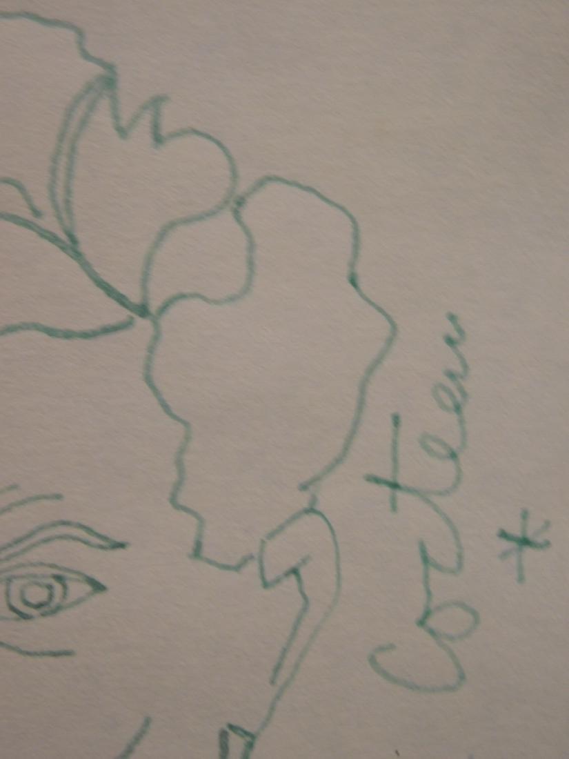 Jean Cocteau: Self-Portrait Drawing - 4