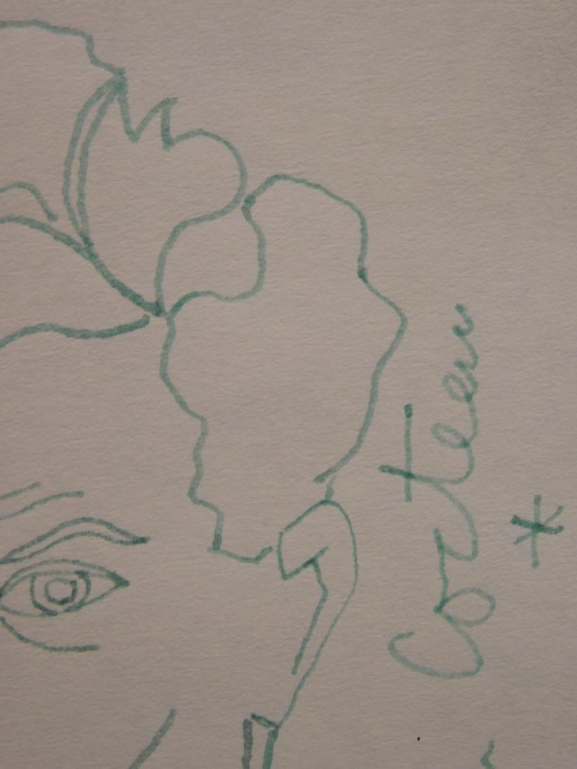 Jean Cocteau: Self-Portrait Drawing - 5