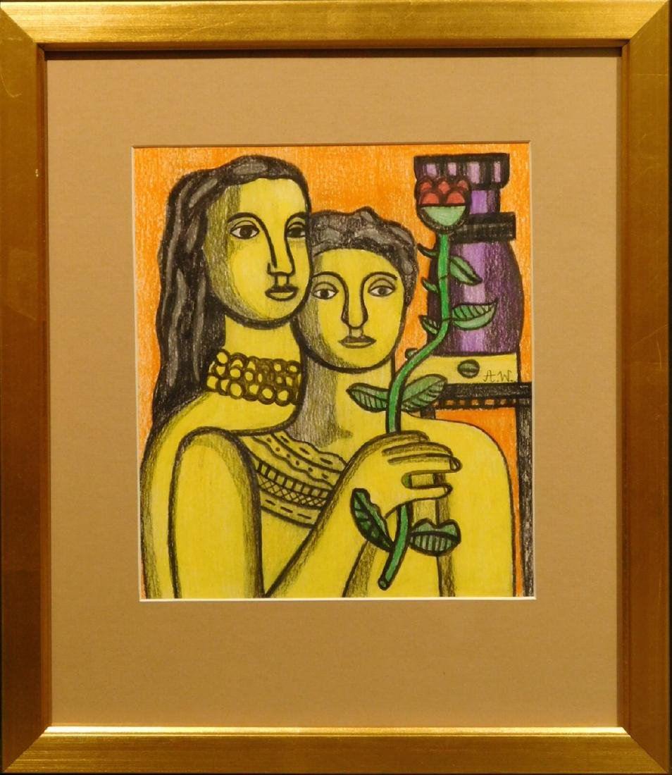 After Fernand Leger: Two Women with Flower