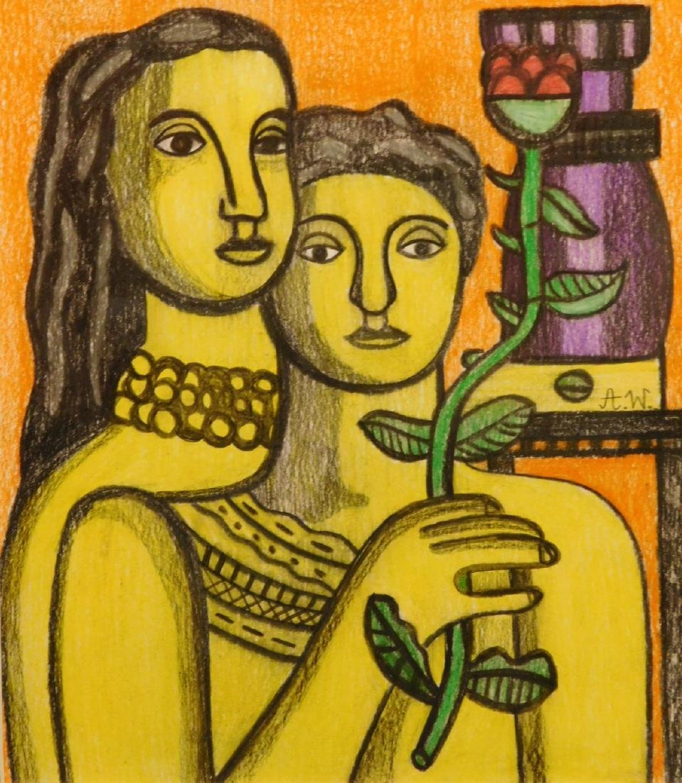 After Fernand Leger: Two Women with Flower - 2