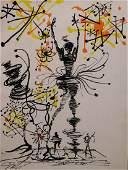 Salvador Dali: Surreal Scene - Figures