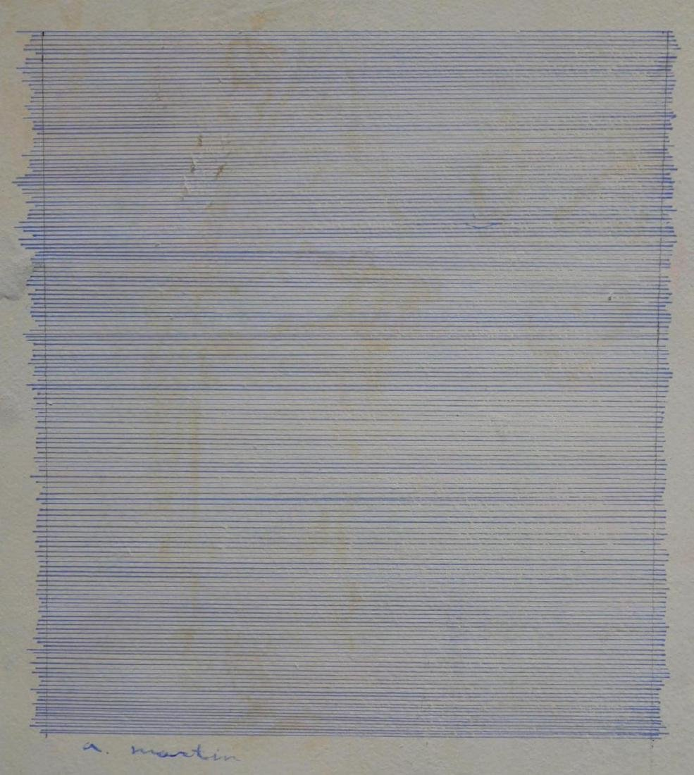 Agnes Martin (1912-2004): Abstract Composition