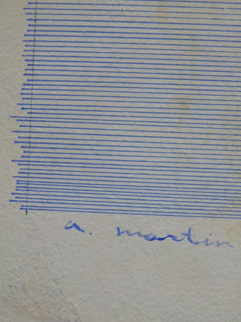 Agnes Martin (1912-2004): Abstract Composition - 3