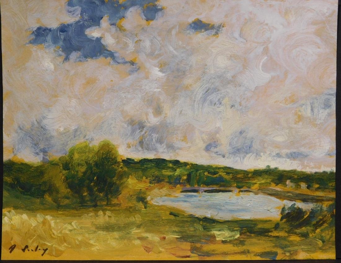 Alfred Sisley: Lake in the Countryside - 2