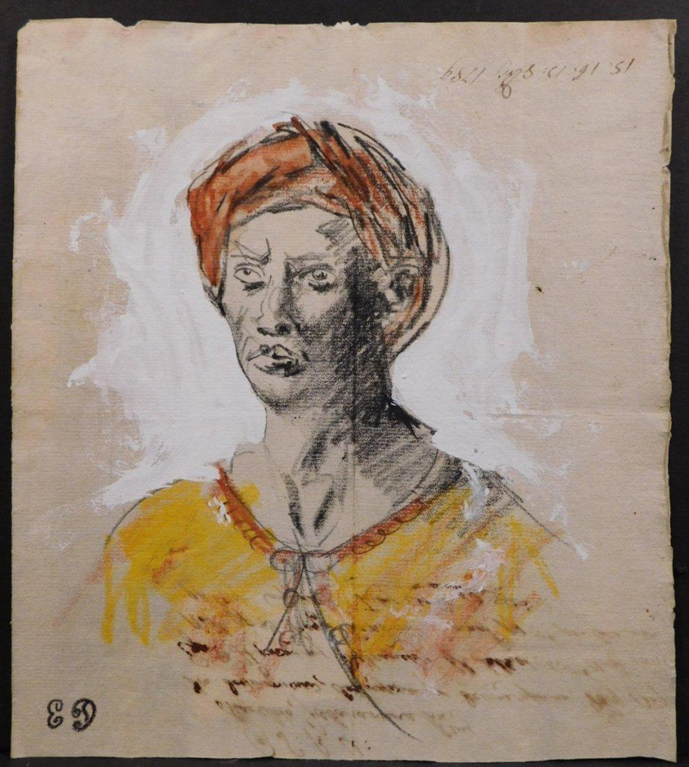 After Eugene Delecroix: Man w/ Turban