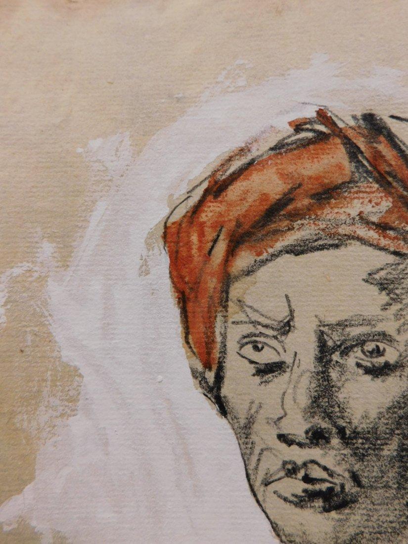After Eugene Delecroix: Man w/ Turban - 2