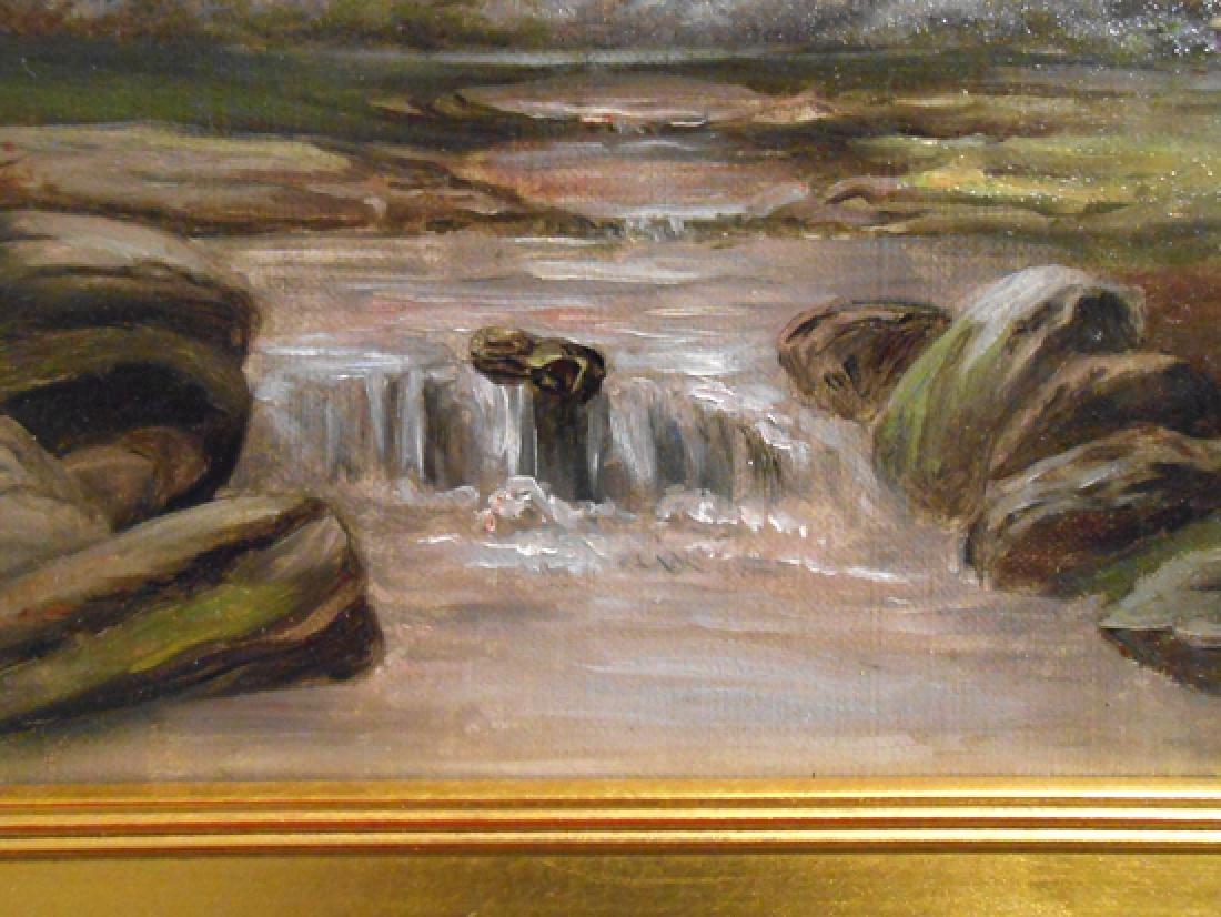 American Tonalist/Barbizon Rural Sunset Oil Painting - 6