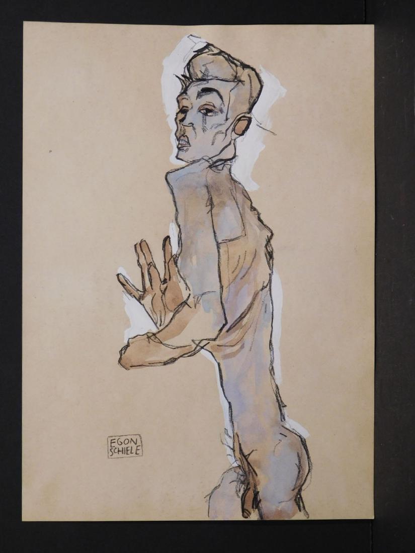Egon Schiele: Self Portrait Study - 2