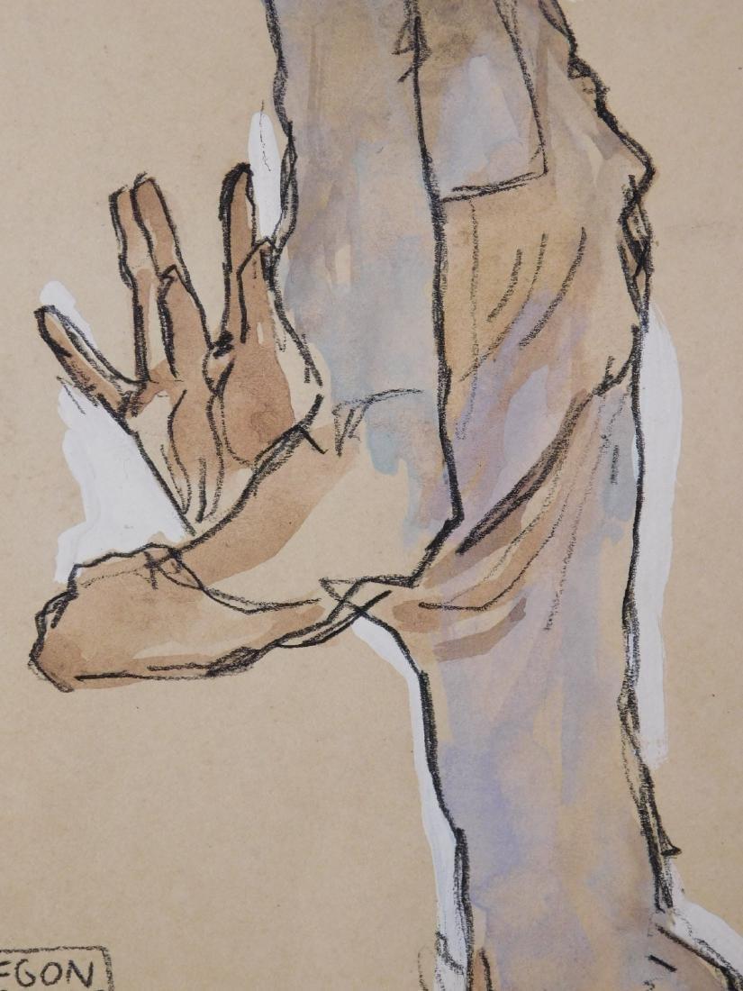 Egon Schiele: Self Portrait Study - 4