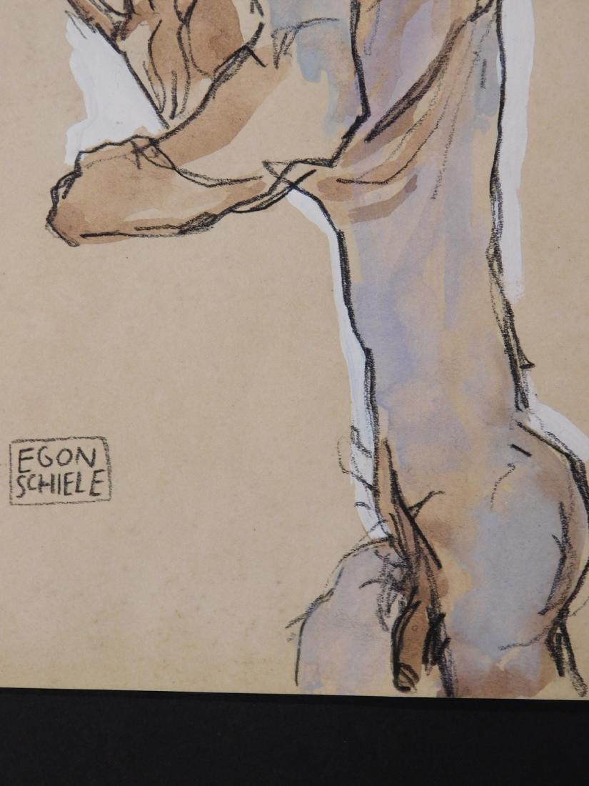 Egon Schiele: Self Portrait Study - 5