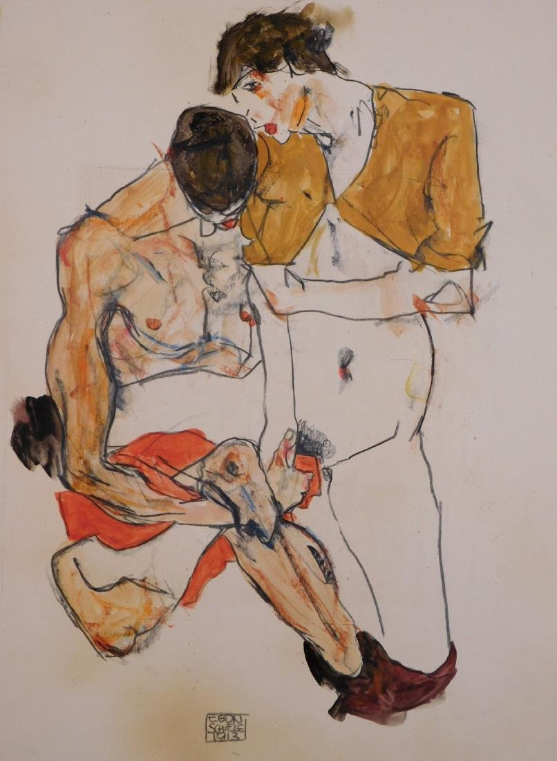 Egon Schiele: Two Figures