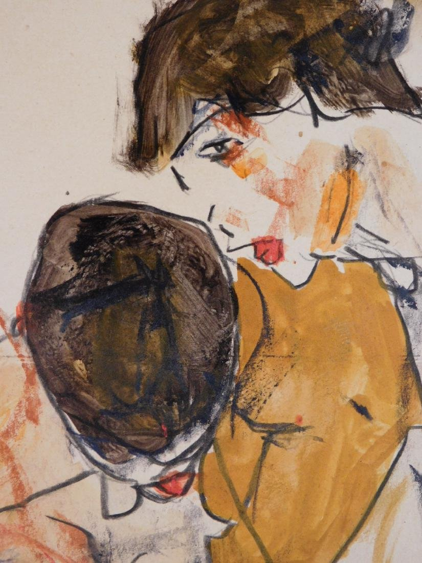 Egon Schiele: Two Figures - 7
