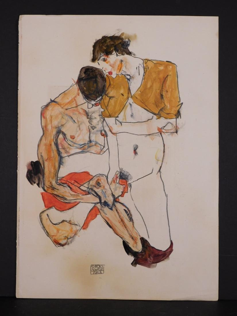 Egon Schiele: Two Figures - 8