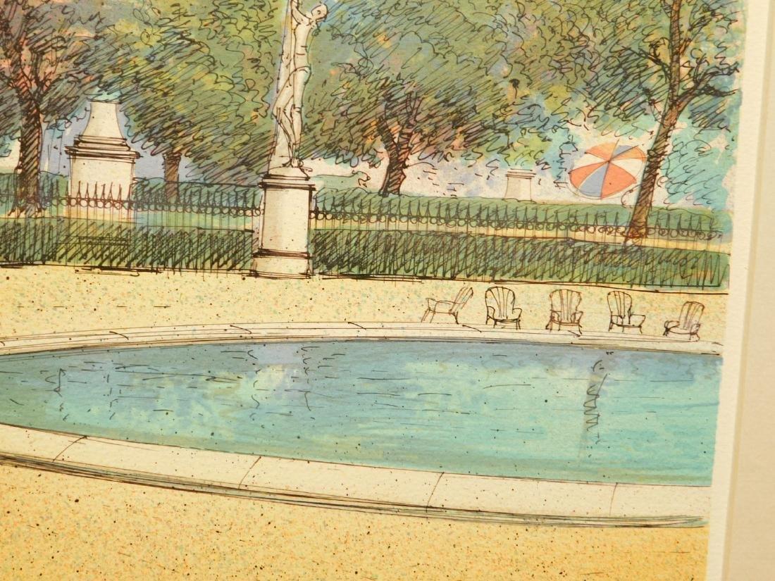 Rafflewski: Le Jarcin de Sculpture, signed lithograph - 10