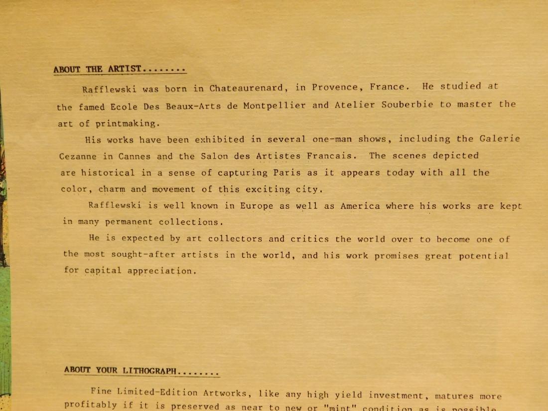 Rafflewski: Le Jarcin de Sculpture, signed lithograph - 2