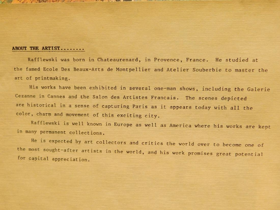 Rafflewski: Le Jarcin de Sculpture, signed lithograph - 3