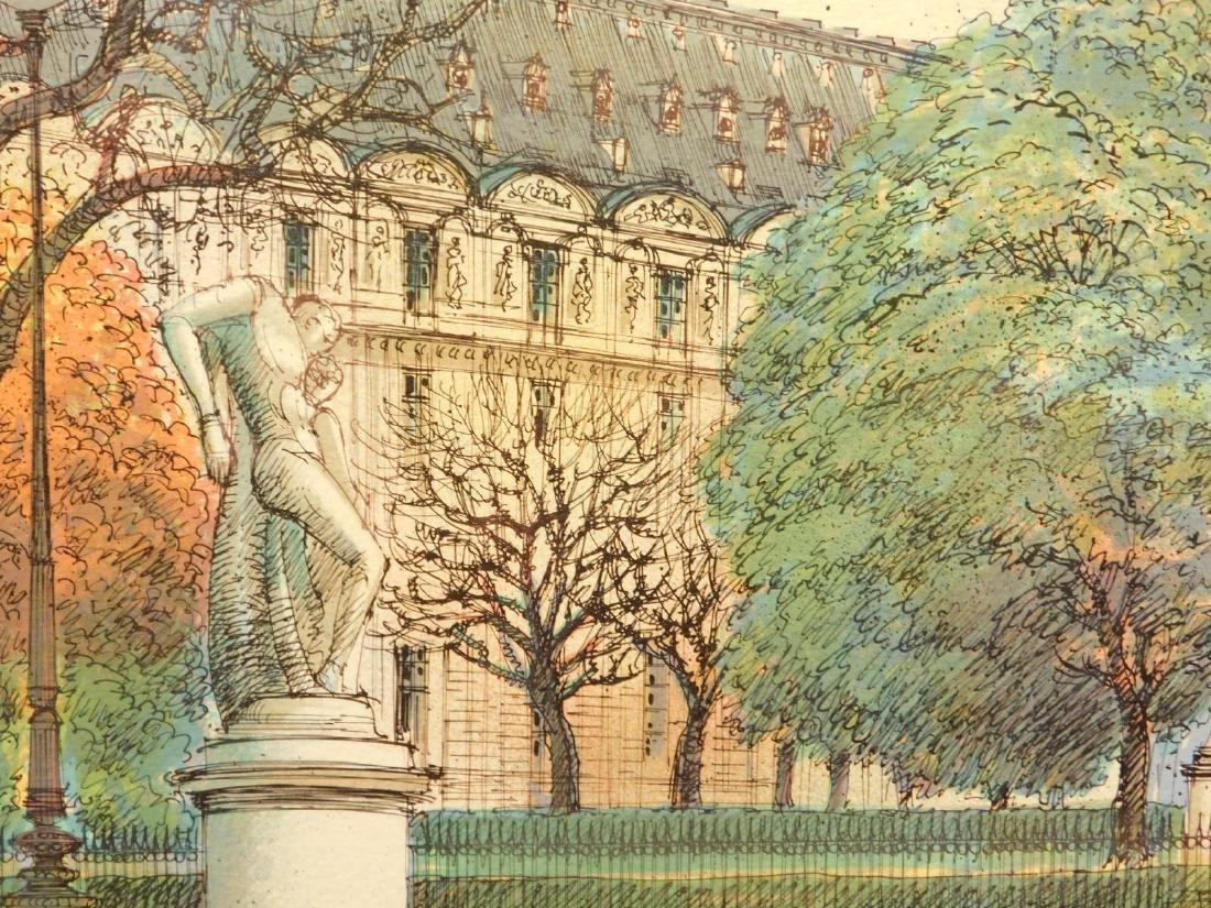 Rafflewski: Le Jarcin de Sculpture, signed lithograph - 9