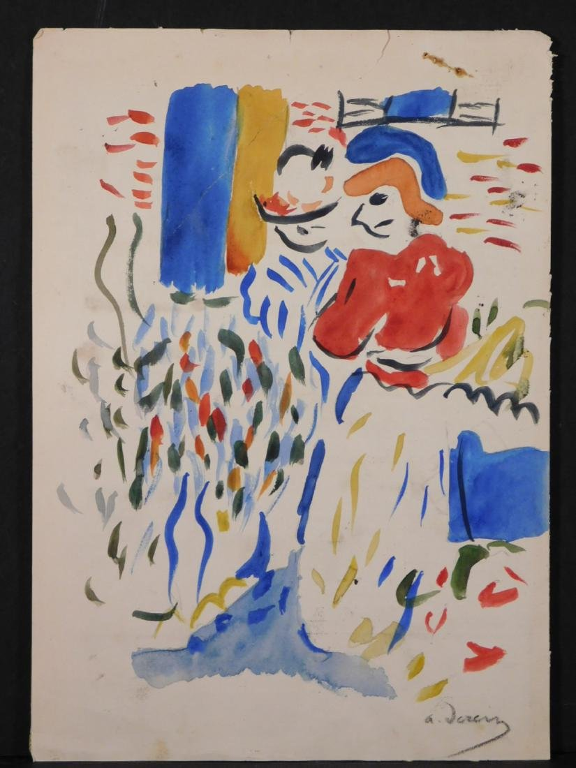 Andre Derain: Watercolor with Figures - 2