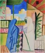 August Macke: Algiers Scene with Two Women
