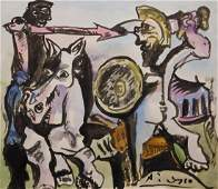 Pablo Picasso: Dueling Soldiers