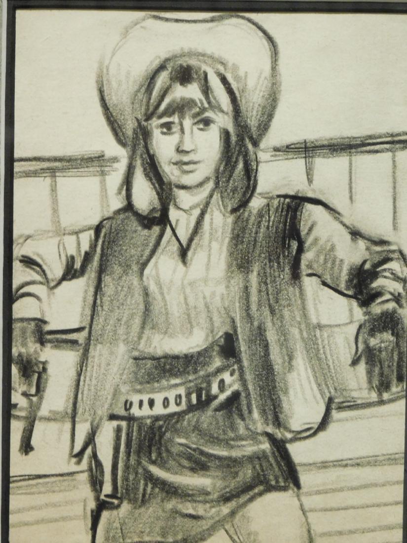 Cowgirl: Original Drawing