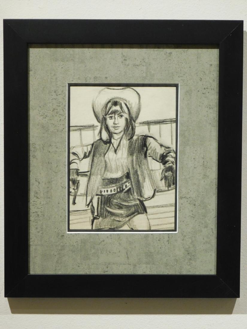 Cowgirl: Original Drawing - 2