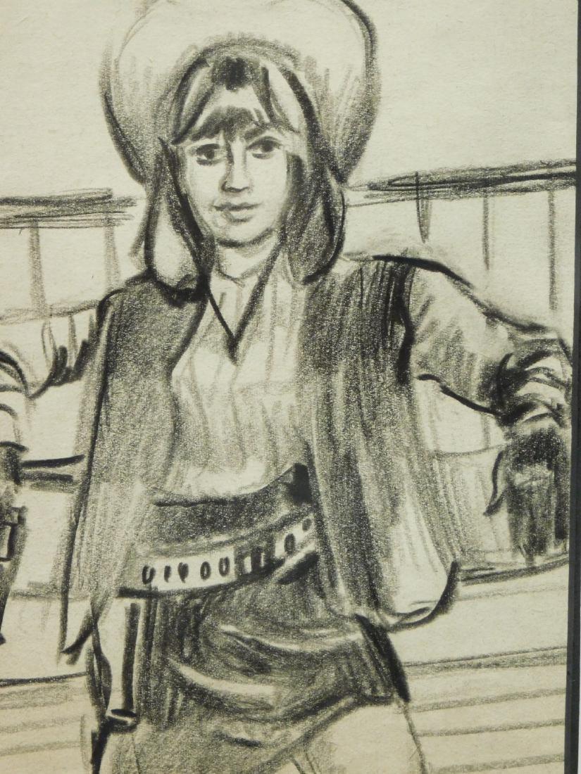 Cowgirl: Original Drawing - 3