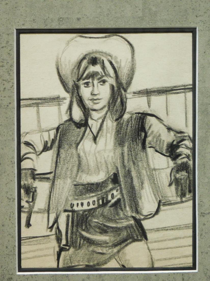 Cowgirl: Original Drawing - 4