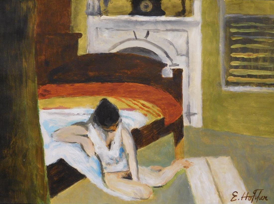 Edward Hopper: Woman in Bedroom Interior
