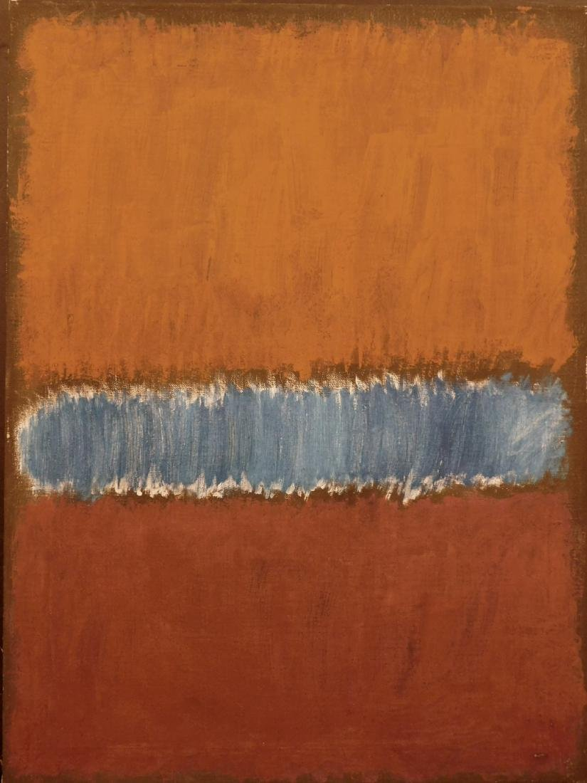 Mark Rothko: Color Field (Brown and Blue)
