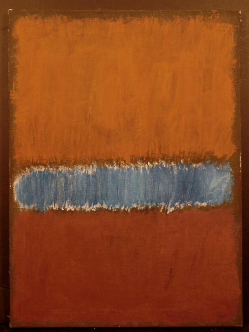 Mark Rothko: Color Field (Brown and Blue) - 2