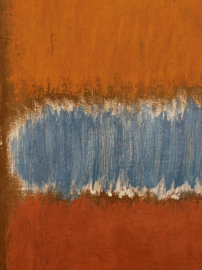 Mark Rothko: Color Field (Brown and Blue) - 3