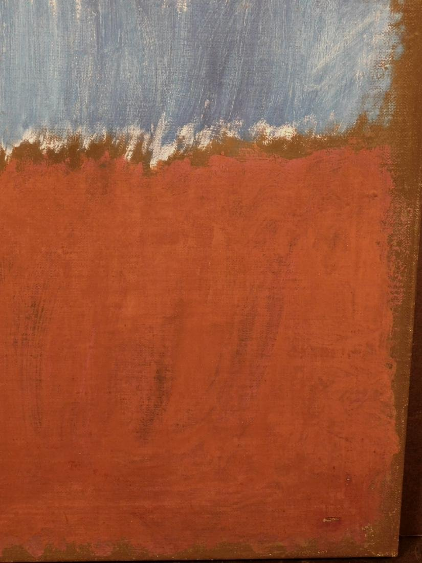 Mark Rothko: Color Field (Brown and Blue) - 4
