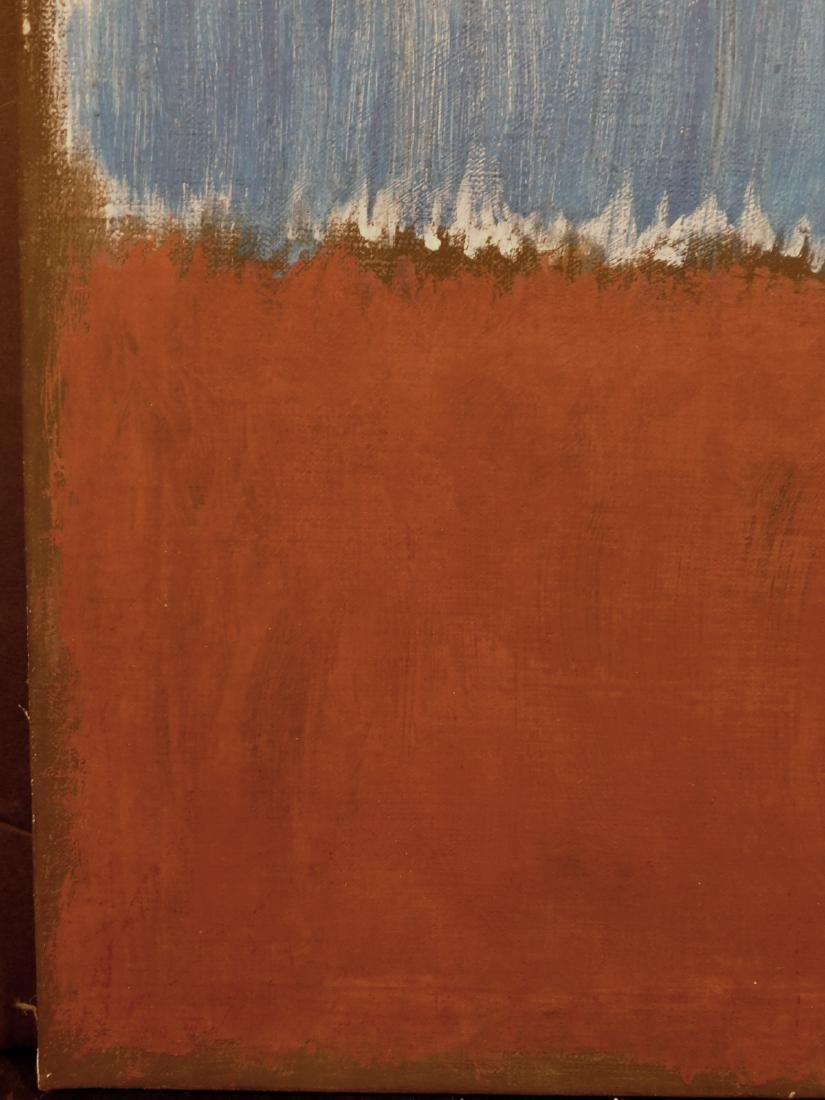 Mark Rothko: Color Field (Brown and Blue) - 5