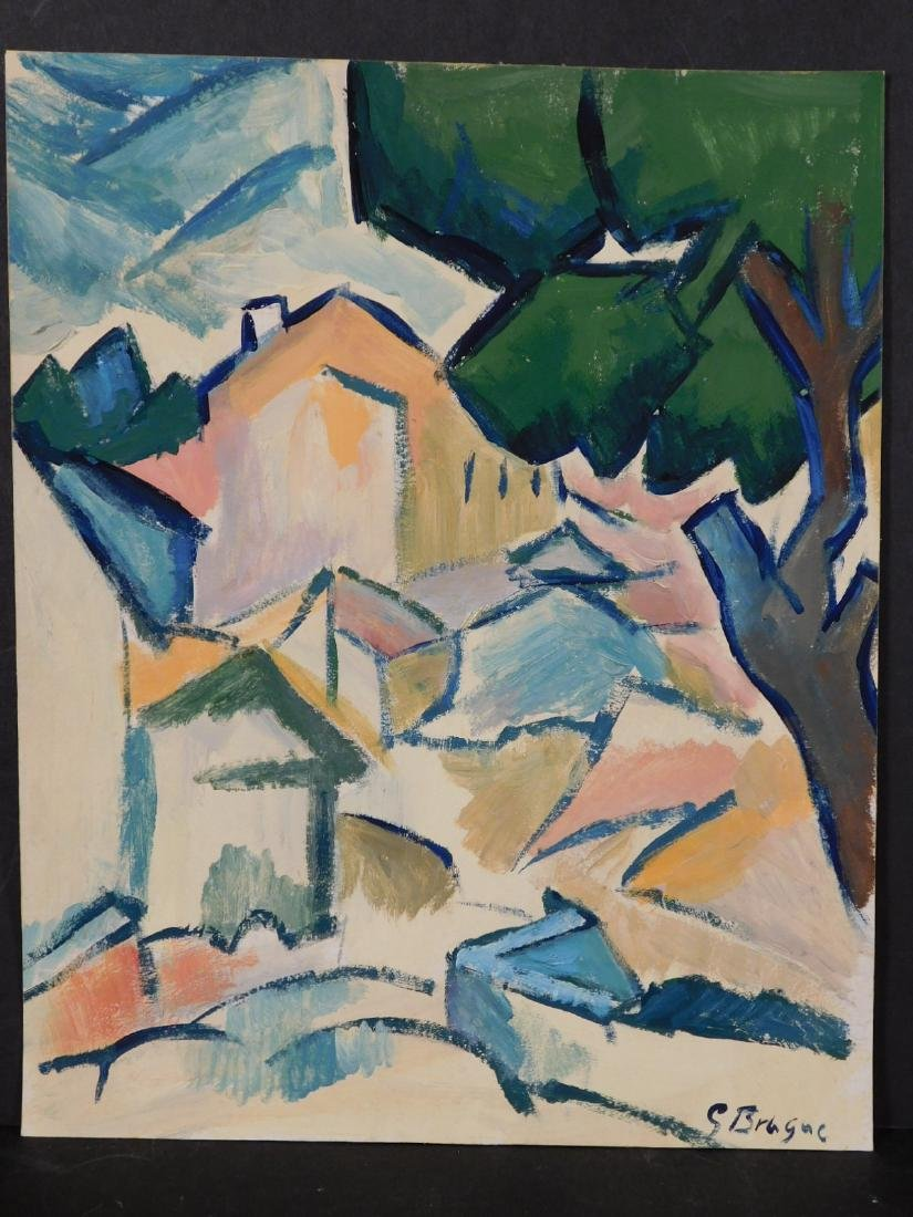 Georges Braque: Landscape with Houses and Tree - 2