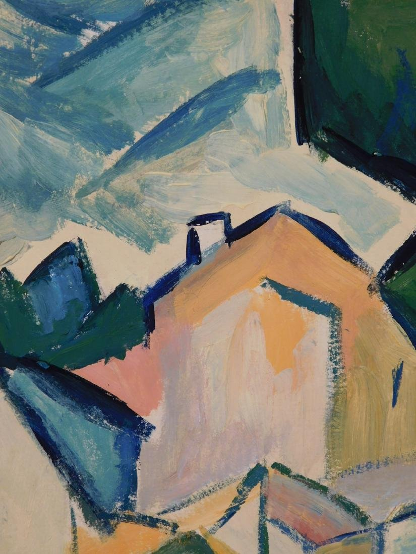 Georges Braque: Landscape with Houses and Tree - 5