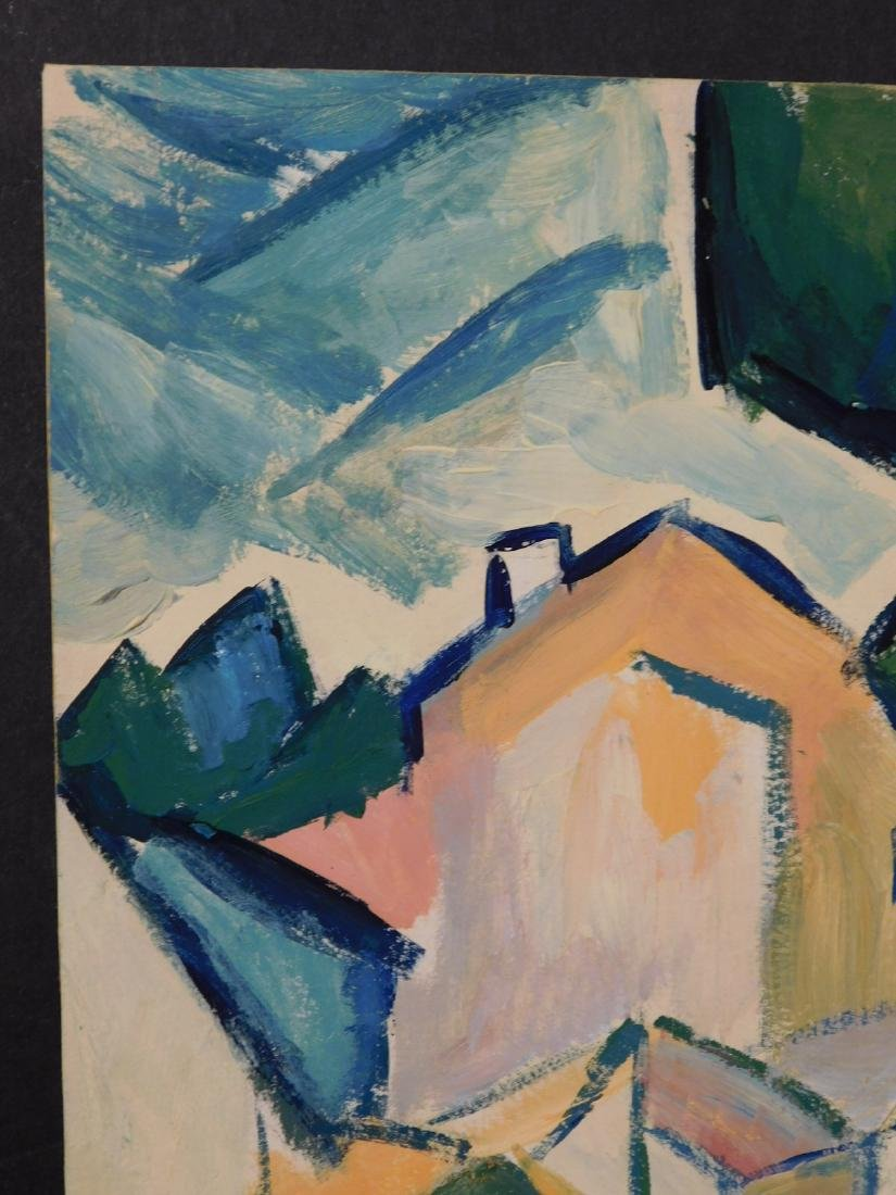 Georges Braque: Landscape with Houses and Tree - 6