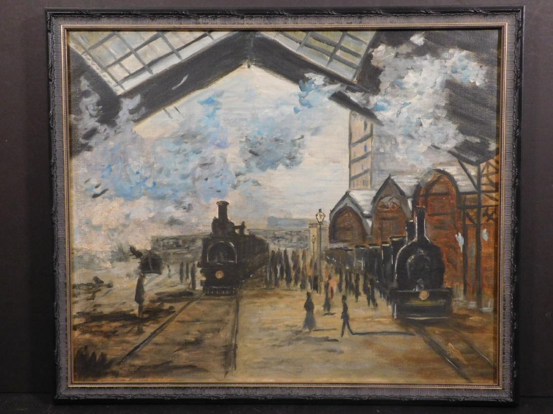 After Claude Monet: Gare Saint Lazare - 2