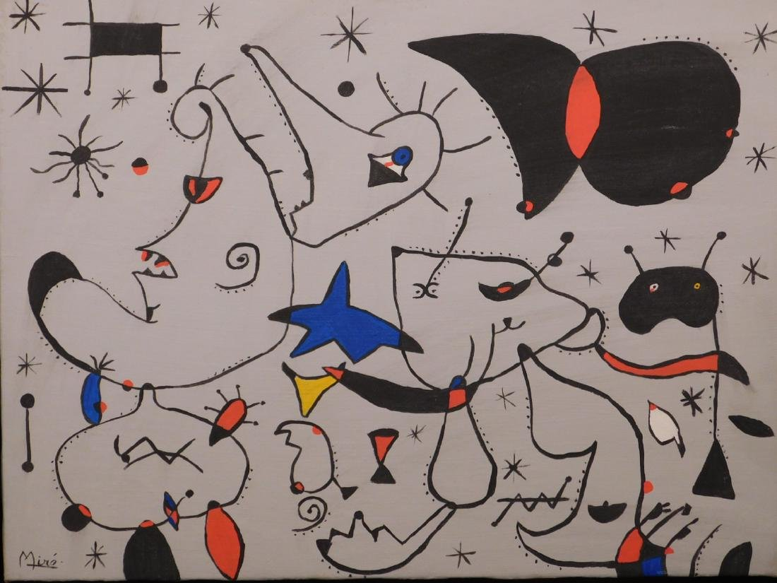 Joan Miro: Abstract Composition - 2